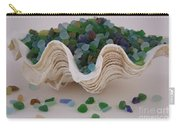 Sea Glass In Clam Shell - No 1 Carry-all Pouch