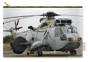 Sea King Helicopter Of The Royal Navy Carry-all Pouch by Luc De Jaeger