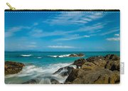 Sea Landscape With Beach Coast Rocks And Blue Sky Carry-all Pouch