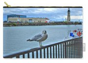 Seagull At Lighthouse Carry-all Pouch