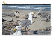 Seagull Bird Art Prints Coastal Beach Bandon Carry-all Pouch
