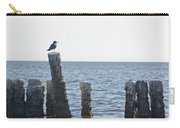 Seagull On A Post Carry-all Pouch