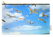 Seagulls At Worthing Sussex Carry-all Pouch