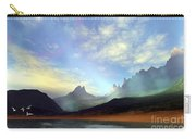 Seagulls Fly Near A Beautiful Island Carry-all Pouch by Corey Ford