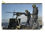 Seaman Fires A .50 Caliber Machine Gun Carry-all Pouch