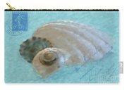 Seashells In Aqua Carry-all Pouch