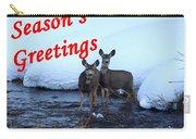 Seasons Greetings Deer Carry-all Pouch
