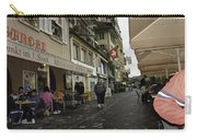 Seated In The Cafe Along The River In Lucerne In Switzerland Carry-all Pouch