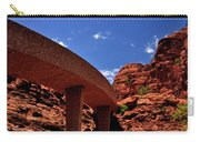Sedona Man Vs Rock Contrast Carry-all Pouch
