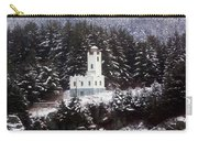 Sentinel Island Lighthouse In The Snow Carry-all Pouch