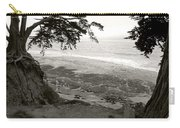 Sentinels View Of The Ocean Black And White Carry-all Pouch