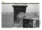 Sentry Tower Castillo San Felipe Del Morro Fortress San Juan Puerto Rico Black And White Carry-all Pouch
