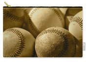 Sepia Baseballs Carry-all Pouch by Bill Owen