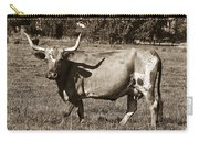 Sepia Longhorn Cow Carry-all Pouch