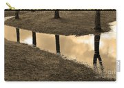 Sepia Silhouetted Reflections  Carry-all Pouch