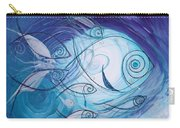 Seven Ichthus And A Heart Carry-all Pouch by J Vincent Scarpace