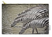 Several Thirsty Zebra Carry-all Pouch