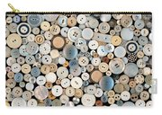 Sewing - Buttons - Lots Of White Buttons Carry-all Pouch