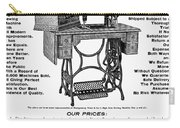 Sewing Machine Ad, 1895 Carry-all Pouch