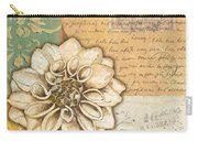 Shabby Chic Floral 1 Carry-all Pouch by Debbie DeWitt