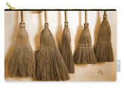 Shaker Brooms On A Wall Carry-all Pouch