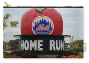 Shea Stadium Home Run Apple Carry-all Pouch by Rob Hans