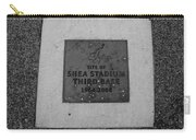 Shea Stadium Third Base In Black And White Carry-all Pouch