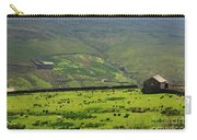 Sheep Graze In A Pasture In Swaledale Carry-all Pouch