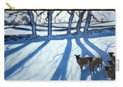 Sheep In Snow Carry-all Pouch