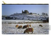 Sheep On A Snow Covered Landscape In Carry-all Pouch
