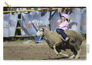 Rodeo Sheep Riding Carry-all Pouch