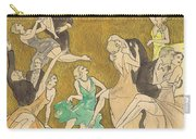 Sheet Music Gold Carry-all Pouch