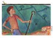 Shepherd Boy Detail Of Red Sky At Night Carry-all Pouch
