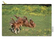 Shetland Pony And Foal Playing Carry-all Pouch