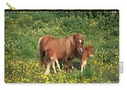 Shetland Pony With Foal Twins Carry-all Pouch