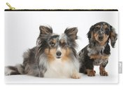 Shetland Sheepdog And Dachshund Carry-all Pouch