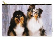 Shetland Sheepdogs Portrait Of Two Dogs Carry-all Pouch