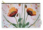 Shining Red Poppies Watercolor Painting Carry-all Pouch