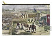 Shipping Cattle, 1877 Carry-all Pouch