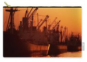 Shipping Freighters At Sunset Carry-all Pouch