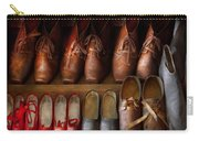 Shoemaker - Shoes Worn In Life Carry-all Pouch by Mike Savad