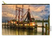 Shrimp Boat At Sunset Carry-all Pouch