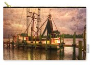 Shrimp Boat At Sunset II Carry-all Pouch by Debra and Dave Vanderlaan