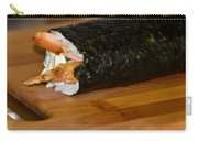 Shrimp Sushi Roll On Cutting Board Carry-all Pouch