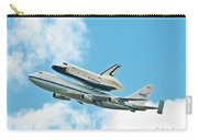 Shuttle Enterprise Comes To Ny Carry-all Pouch by Regina Geoghan