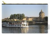 Sightseeing Boat On River Seine. Paris Carry-all Pouch