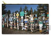 Sign Posts Forest In Watson Lake Yukon Carry-all Pouch