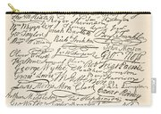 Signatures Attached To The American Declaration Of Independence Of 1776 Carry-all Pouch