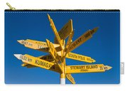Signpost In Sterling Point Bluff Carry-all Pouch