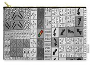 Signs Black And White Carry-all Pouch